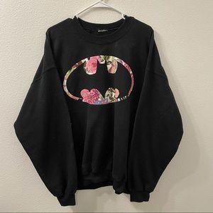 Batman sweatshirt black floral logo XL